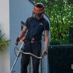 Tuinman aan het werk
